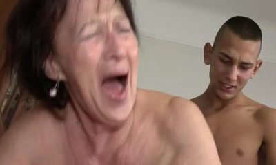 Grandmother Likes Young Boy's Balls and Ass
