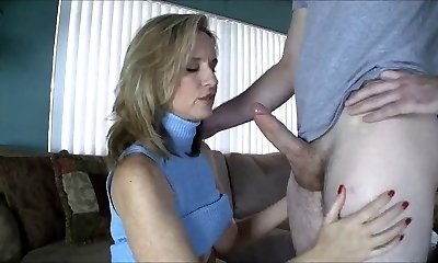 Mommy Gives Handjob toYoung Boy