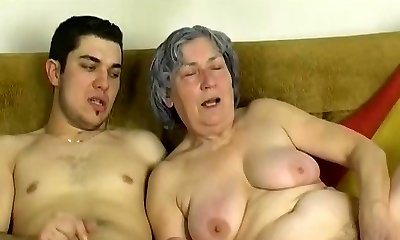OmaPass Young fellow fuck very old granny with her girlfriend