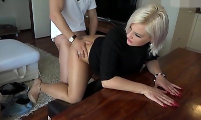 Mature content(tan shiny stockings)