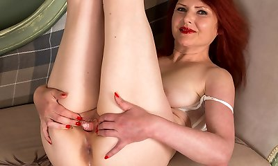 Ginger-haired mature solo