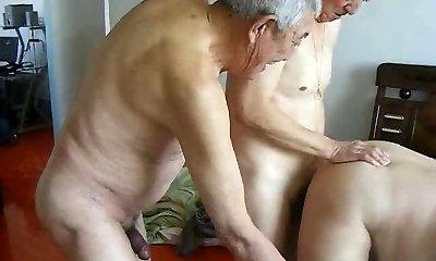 2 grandpas fuck granddad