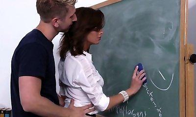 Fucking his professors good & hard