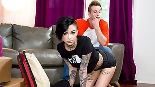 Leigh Raven in Dykes Takin' Dick: Leigh Raven Likes Step-Brother Cock, Episode #01 - BurningAngel