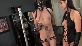 Mistress hand job comp