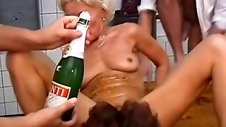 Two hot mummies fisted fucked   bottled