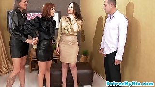 Assfucked glamour eurobabes jizzed on asshole