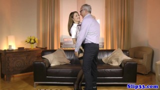 Euro schoolgirl pleasures geriatric