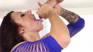 Busty masseuse gets cum
