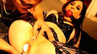 Goth pornstar anal dildo have fun
