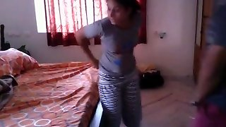 Hot Bengali nymph quickie shag with neighobour in her room