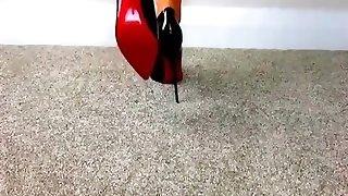 ženský dom holé podrážky v high high-poltopánková obuv - saf