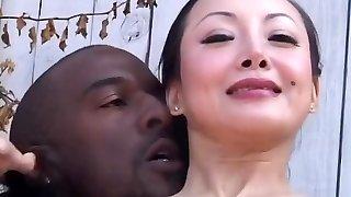 Astounding pornstar Ange Venus in horny bi-racial, brunette porn scene
