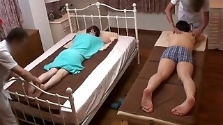 Spouse Watches Japanese Wife Get a Naughty Rubdown - 2