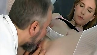 Old doctor fucks horny patient