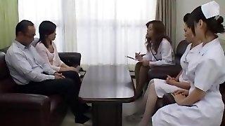 Incredible Japanese whore Sara Nakamura, Jun Rukawa in Crazy Group Sex, Nurse JAV sequence