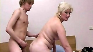 Blonde Mature With Young Guy
