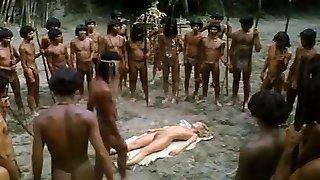 mladá blondínka v prdeli africké trib