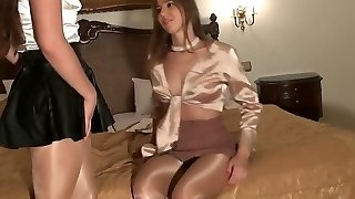 Sexy Babes Showcase Off In So Sexy Tan Tights