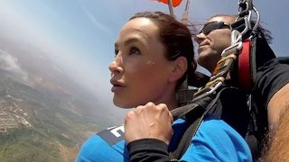The News @ Hump - Skydiving With Lisa Ann! Pt 2
