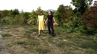 German prego bitch fucks outdoor