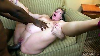 Fucky-fucky-crazy pregnant bi-atch Charlie Macc is fond of big black weenie