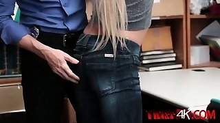Cute blonde chick pounded from behind