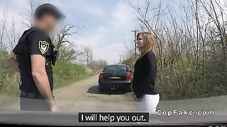 Stunner with outdated licence fucks faux cop