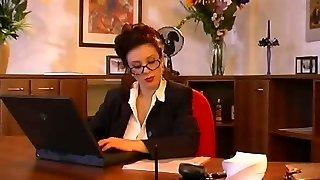 Ample tits secretary fucking her boss