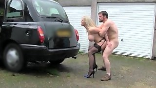 FemaleFakeTaxi Marine gives driver excellent fuck