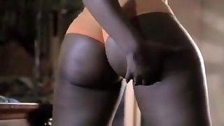 exotické domácí černá a ebony, solo girl porno scéna