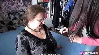 Couple Gets Grannie In Bed