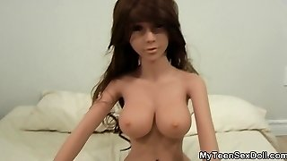 Teen Sex Doll Fucked Real Hard!
