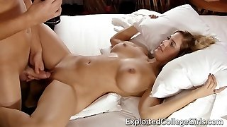 Big Tit Coed Fucked and Coated