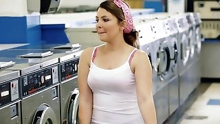 ExxxtraSmall - Petite Teen Humped in Laundromat
