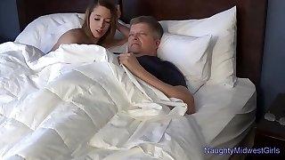 Lola Hunter - Babysitter wants elderly man-meat in the morning