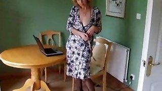 Mature Bod Stocking Pantyhose Strip