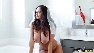 French bride Ava Addams is cheating on her future husband with his finest guy