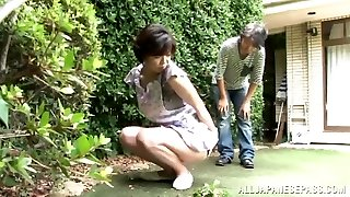 Asian AV Model is a super-naughty maid enjoying a hard fucking