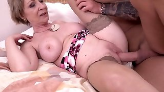 Scorching milf and her younger lover 869