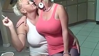 Smoking lesbians big titties
