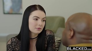BLACKED Marley Brinx first big black cock in her butt