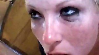 Danish blond gagging