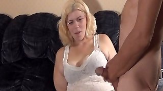 skank plays with guys butt