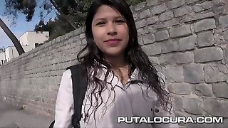 PUTA LOCURA Cute Big-boobed Teen picked up