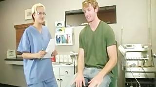 Nurse Masturbates Young Boy and Gets Blasted With Jizz