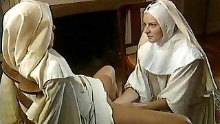old-school všetky dievča mníšky - dobrý handballing