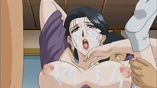Big titted hentai stunner gets dripping ass and cunt fucked