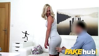 Fake Agent Cute blonde model luvs being fucked doggy style