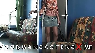 Looking beauty provides butt for fucking at a audition